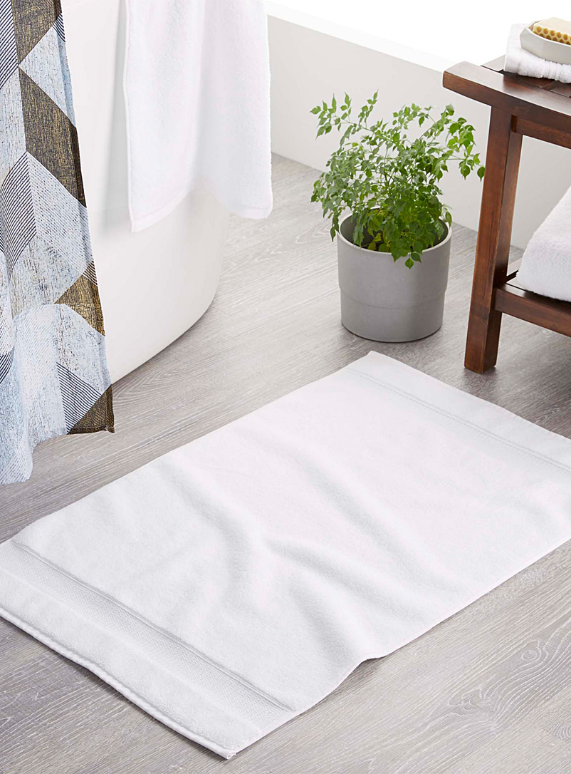 Egyptian cotton bath mat  50 x 80 cm - Bath Rugs - White