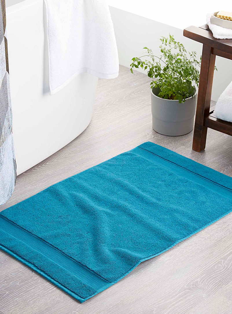 Egyptian cotton bath mat  50 x 80 cm - Bath Rugs - Slate Blue