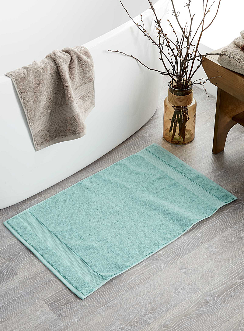 Simons Maison Teal Egyptian cotton bath mat  50 x 80 cm