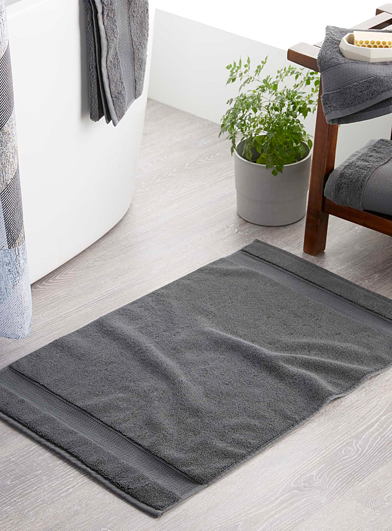 Egyptian cotton bath mat  50 x 80 cm - Bath Rugs - Dark Grey