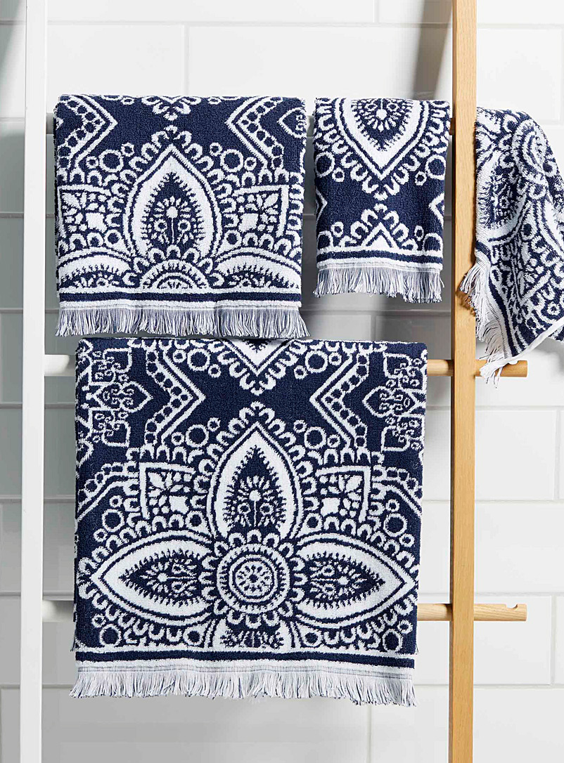 Simons Maison Patterned Blue Andalusian street towels