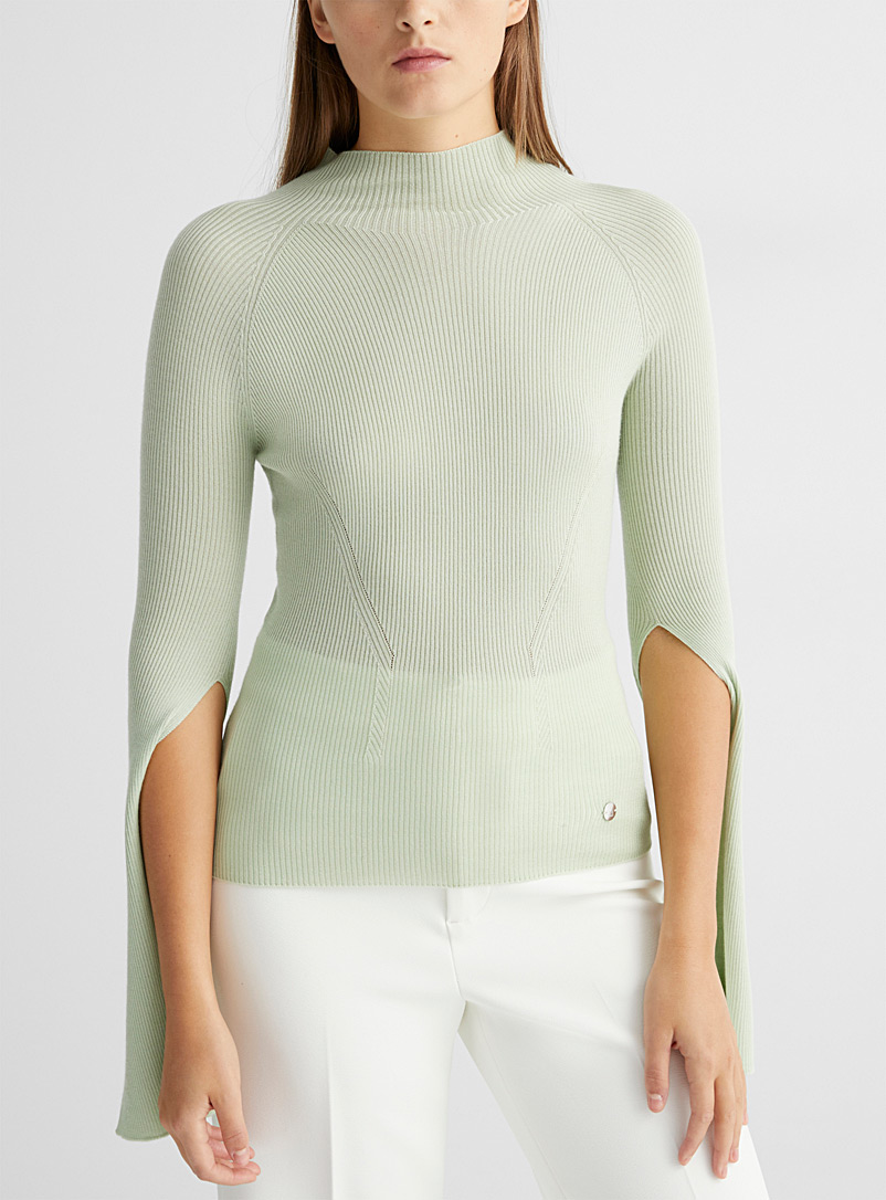Lanvin Lime Green Fine cashmere sweater for women