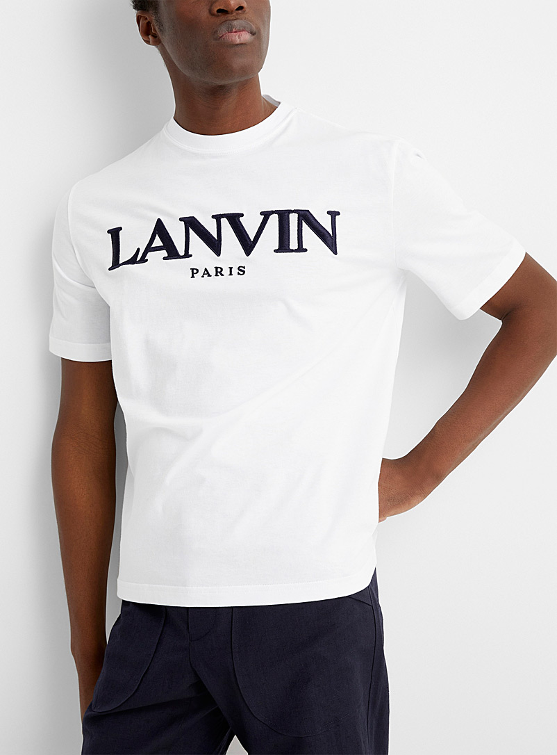 Embroidered signature T-shirt