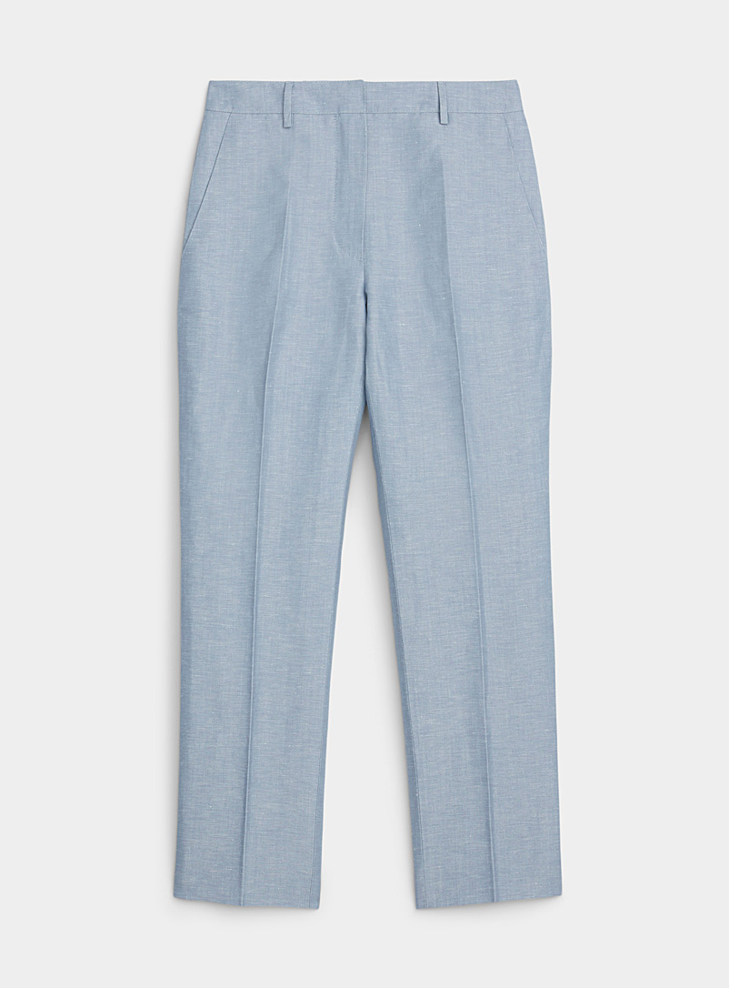 Lanvin Baby Blue Pale blue wool and linen pant for women