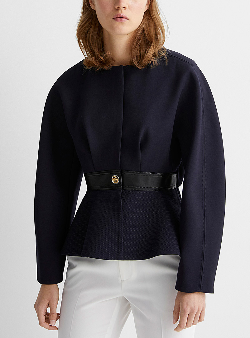 Lanvin Marine Blue Navy peplum jacket for women