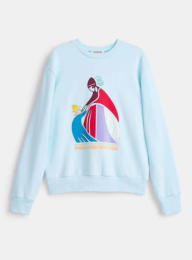 Lanvin Baby Blue Mother and child print sweatshirt for women