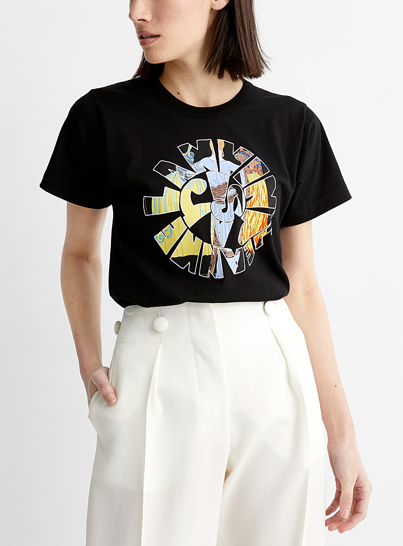 Lanvin Black Jeanne Lanvin spiral tee for women