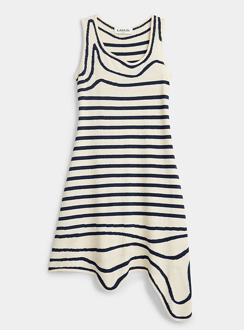 Lanvin Patterned Ecru Knit sailor dress for women
