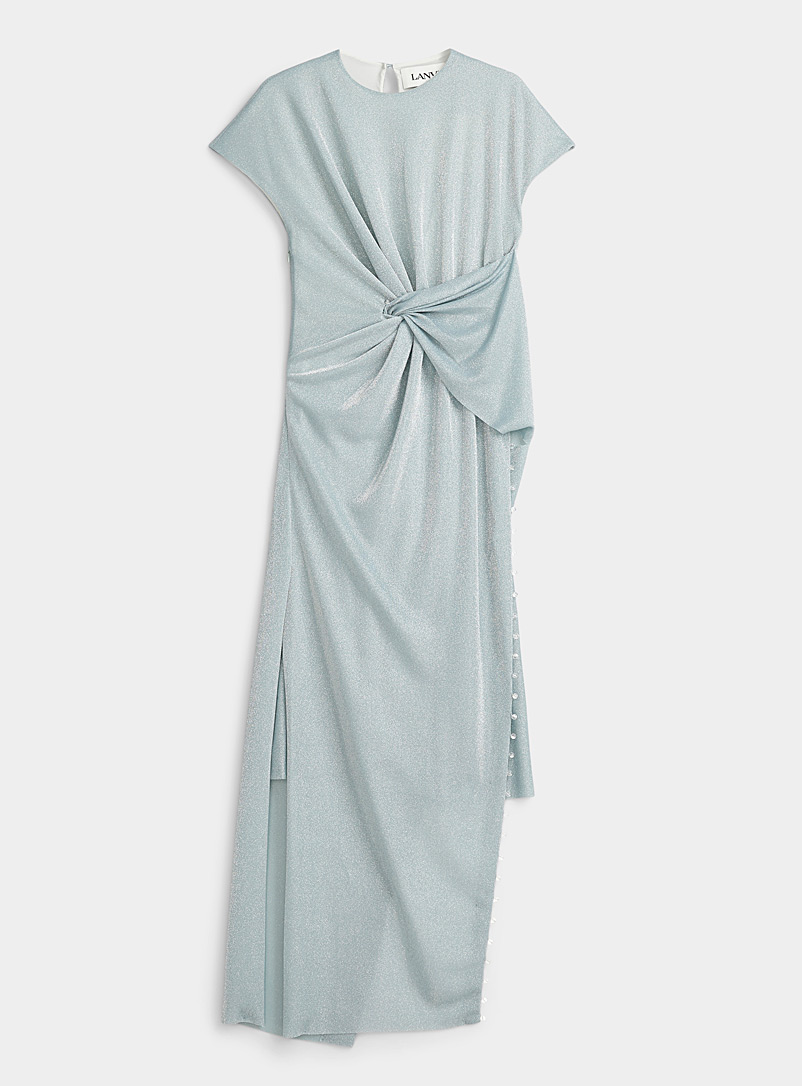 Silver beaded trim dress
