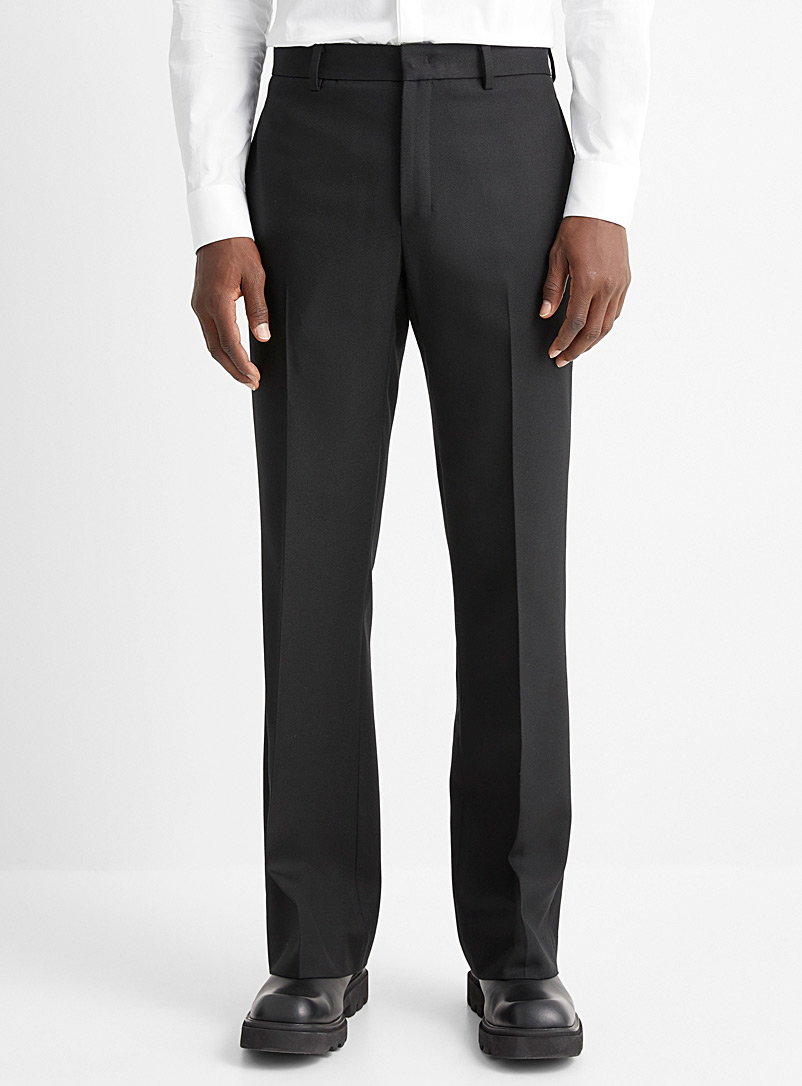 Wooyoungmi Black Wool straight pant for men