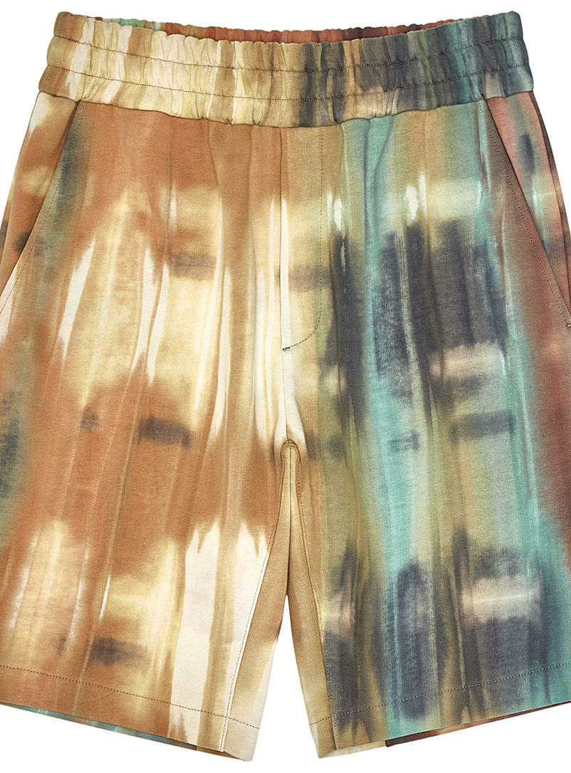 Wooyoungmi Honey Tie Dye Bermudas for men