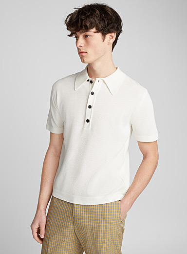 Textured knit polo