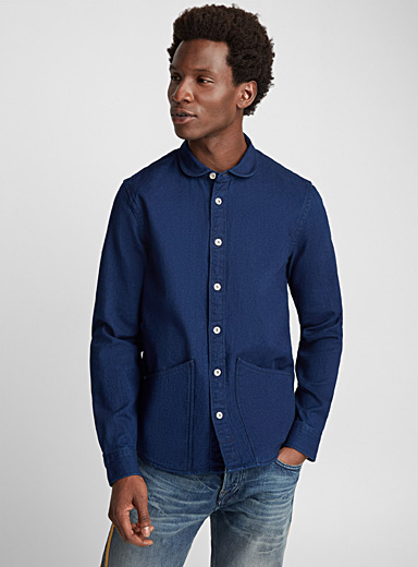 Indigo denim overshirt