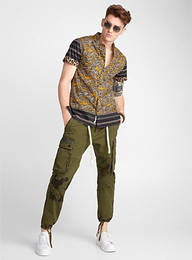 Tropical accent cargo pant