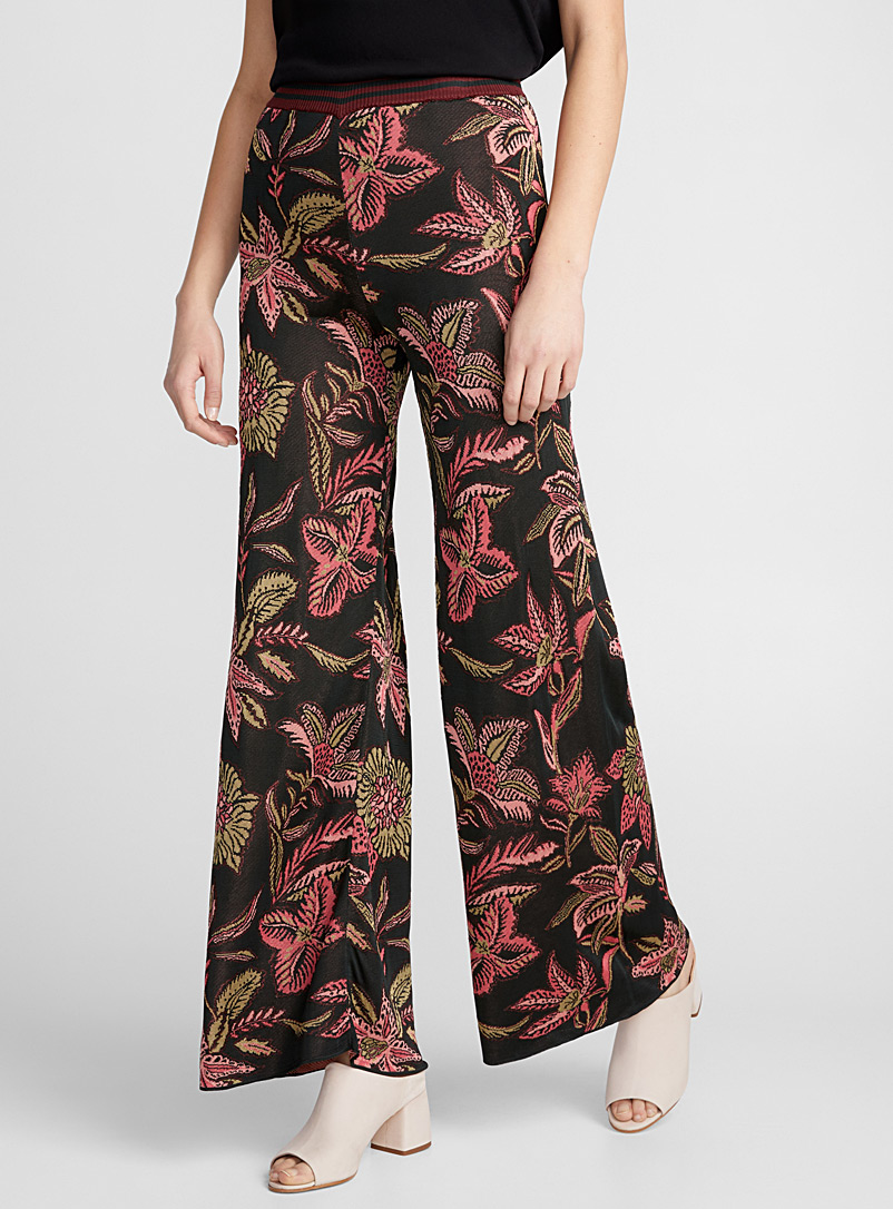 tropical-flower-knit-pant