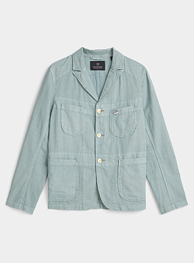 Sage cotton and linen jacket