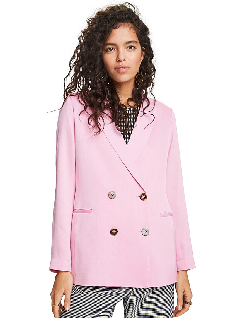 Scotch & Soda: Le veston pastel double boutonnage Rose pour femme