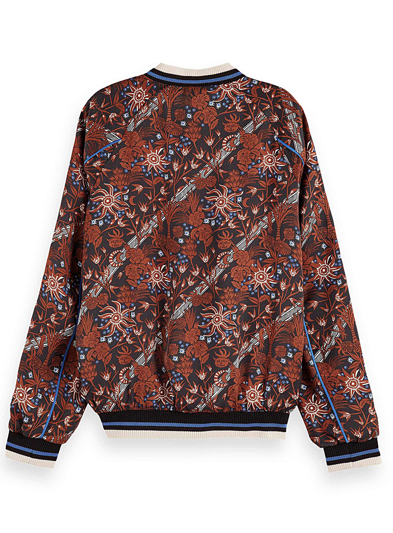 Scotch & Soda Assorted Scarf floral bomber jacket for women