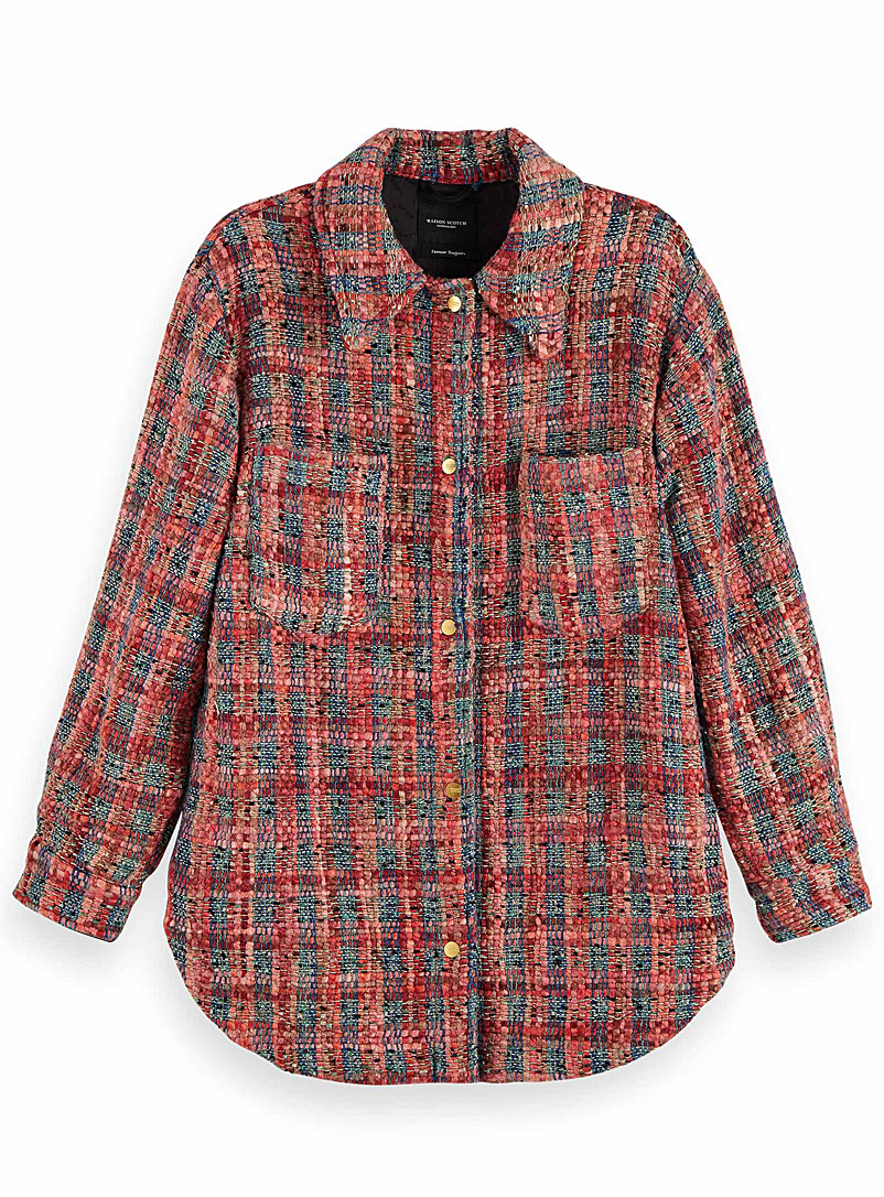 Scotch & Soda Assorted Pink tweed shirt jacket for women