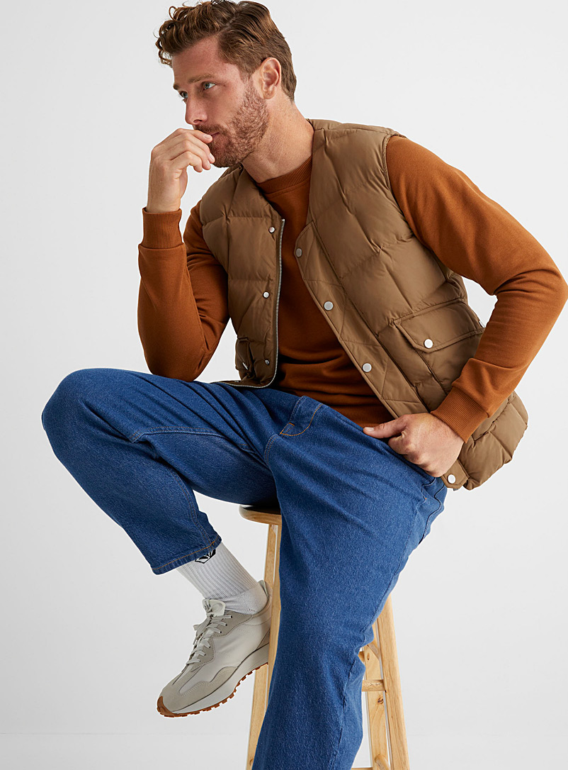 Scotch & Soda Sand Square-quilted vest for men