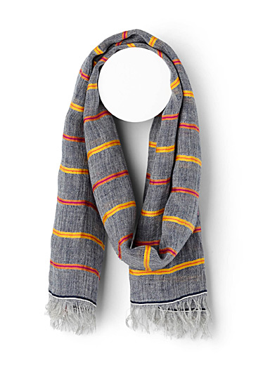 Fiery striped scarf