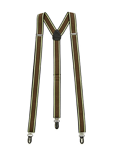 Alternating stripe suspenders