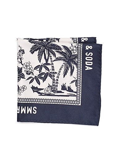 Tropical flowers pocket square