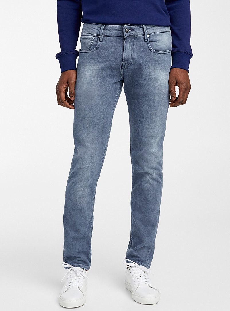Scotch & Soda Blue Tye grey-blue jean  Slim fit for men