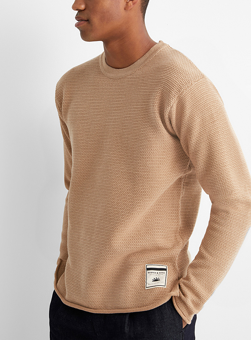 Scotch & Soda Sand Loose natural sweater for men
