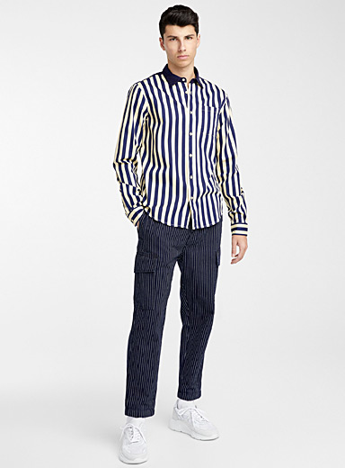 Retro seaside striped shirt <br>Comfort fit