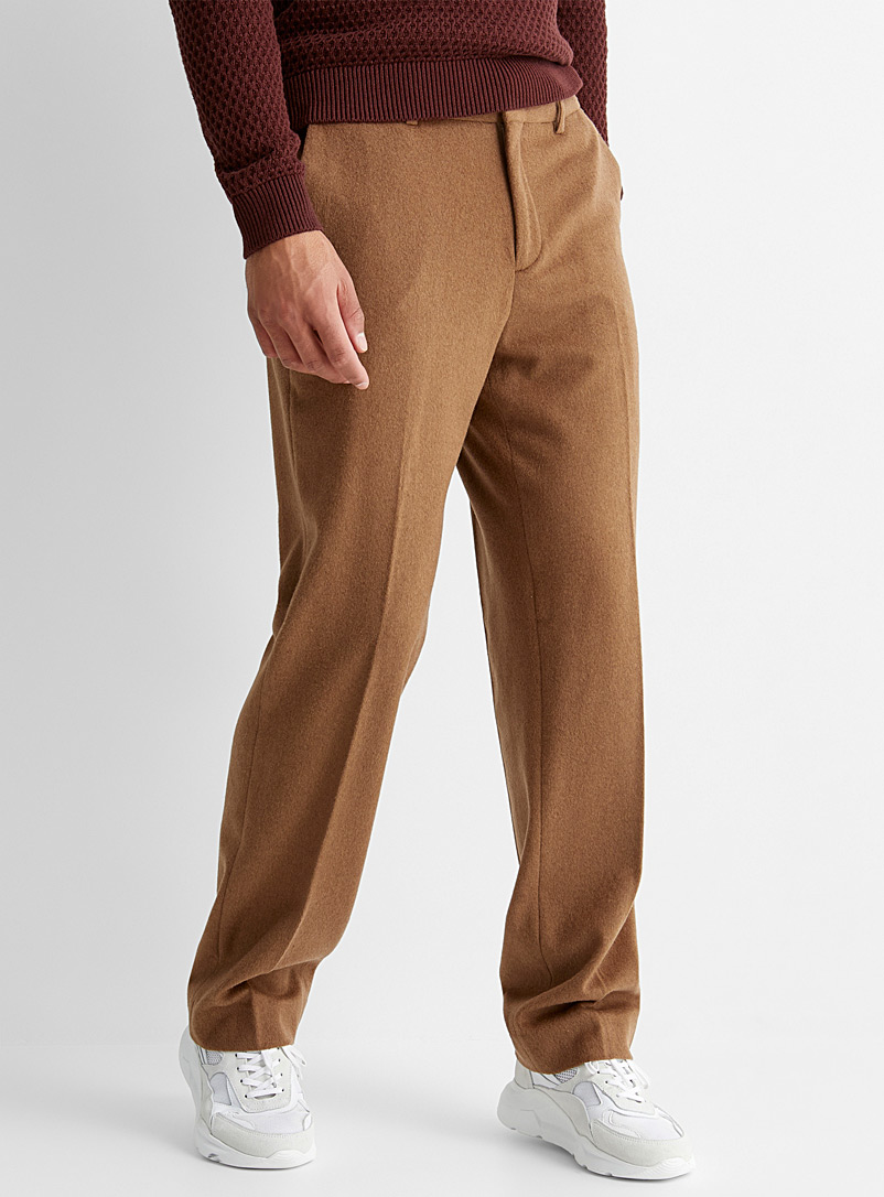Velvety flannel pant  Straight fit