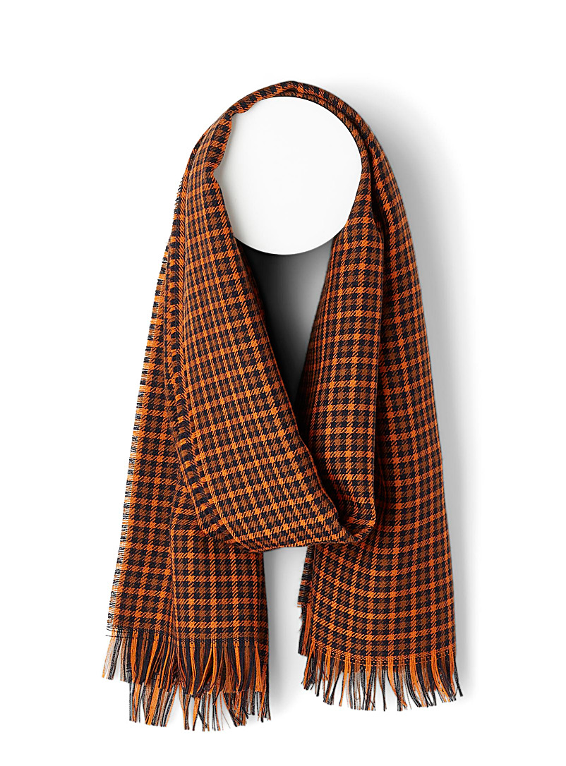 Retro plaid scarf