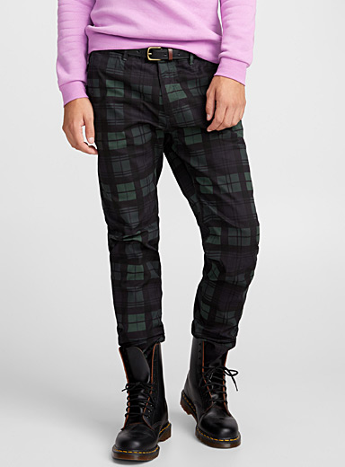 Stuart tartan chinos <br>Slim fit