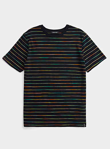 Faded stripe T-shirt