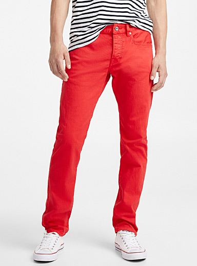 Ralston bright red jean <br>Slim fit