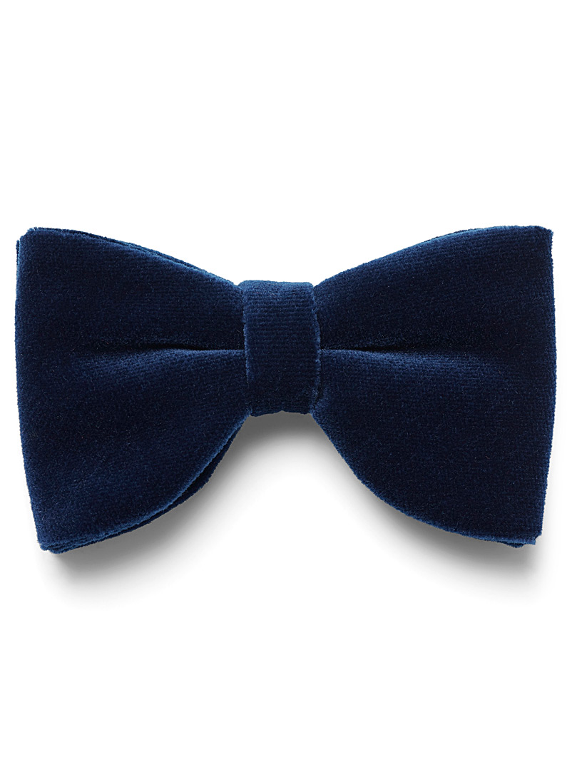 Rich velvet bow tie - Bow Ties - Blue