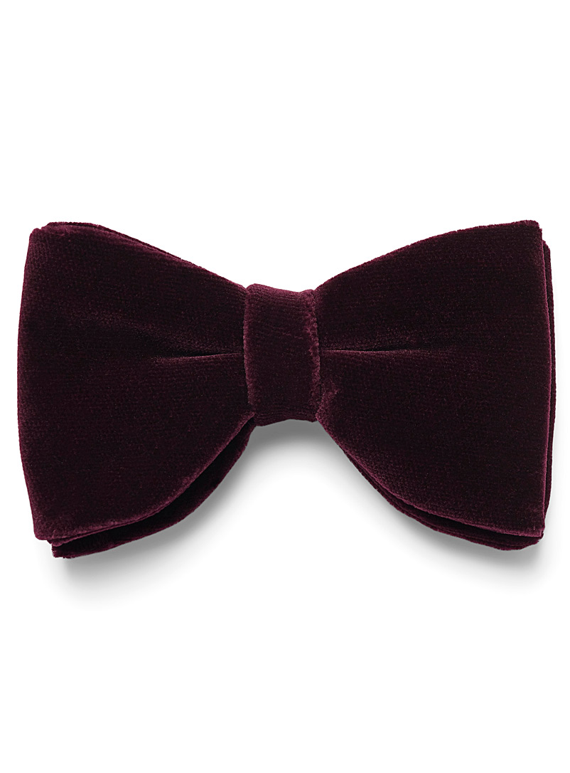 Rich velvet bow tie - Bow Ties - Red