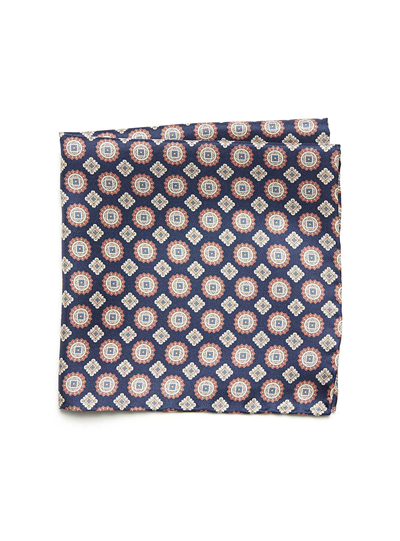 Medallion pocket square - Pocket Squares & Scarves - Marine Blue