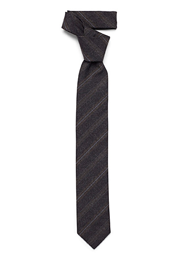 Striped chambray tie