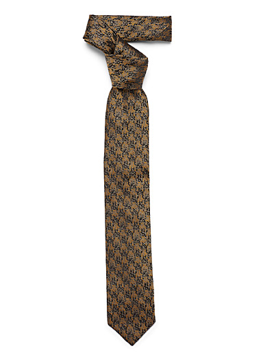 Abstract houndstooth tie