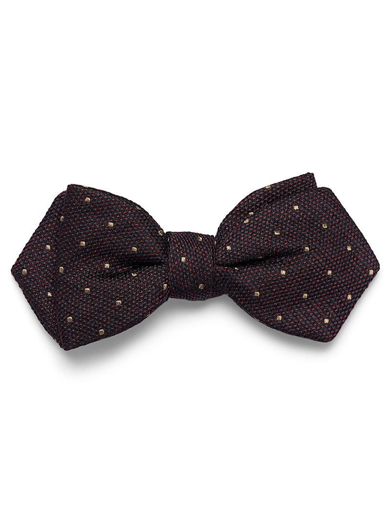 dotted-knit-bow-tie