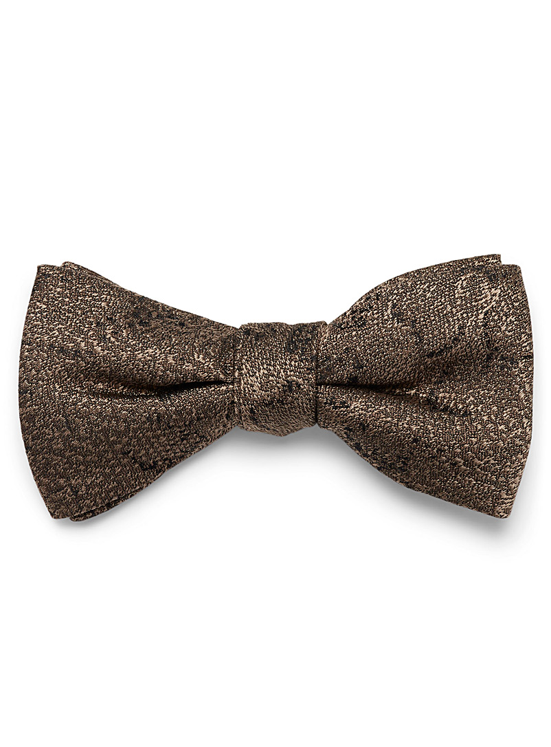 Snake jacquard bow tie - Bow Ties - Fawn