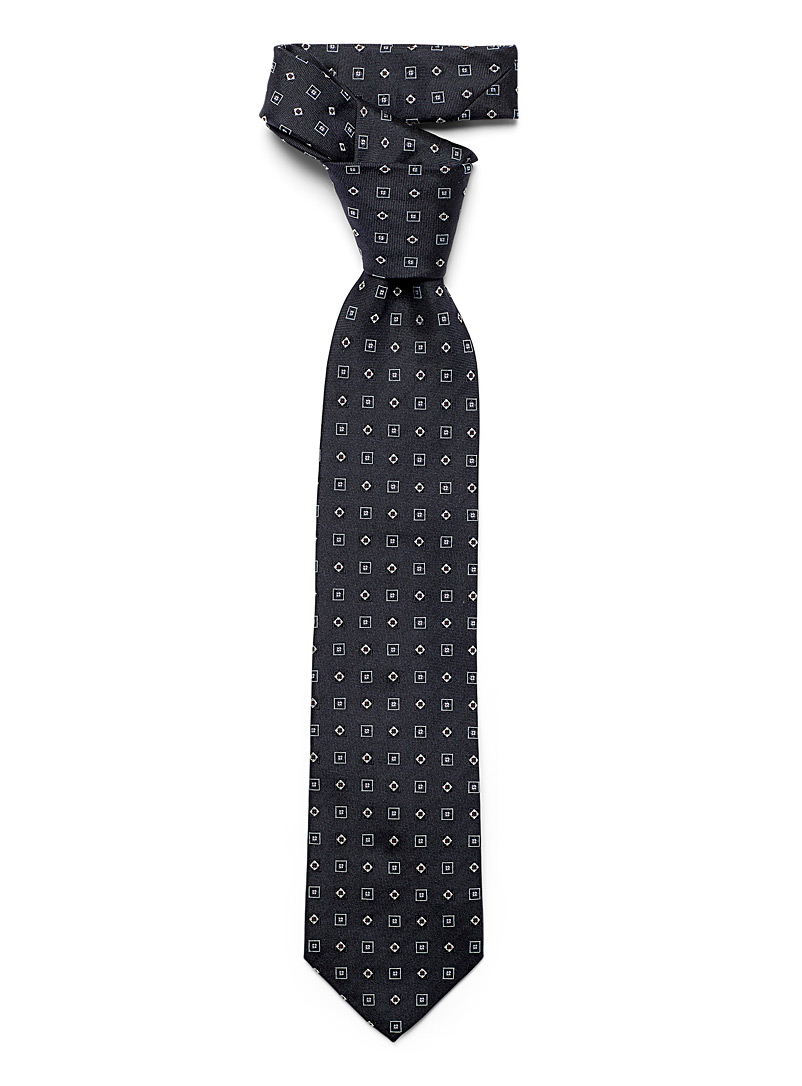 Blick Marine Blue Repeat check tie for men
