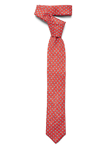 Blick Coral Mini paisley tie for men