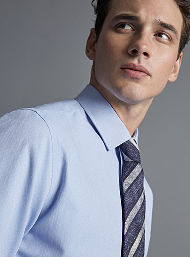 Heathered stripe tie