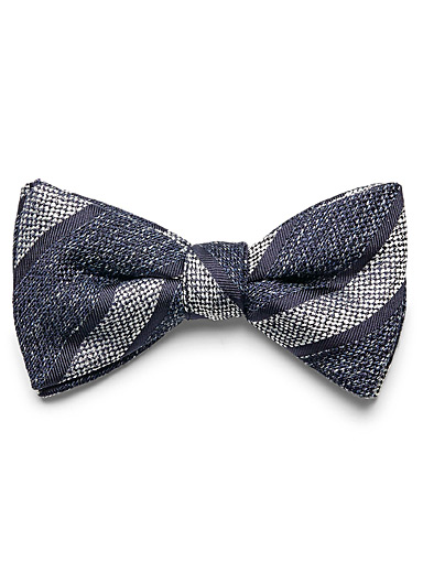 Heathered stripe bow tie