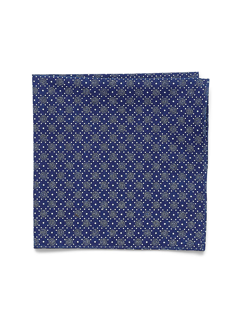 geo-snowflake-pocket-square