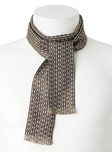 Blick Cream Beige Dandy ascot scarf for men