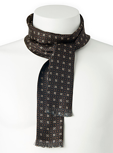 Blick Brown Dandy ascot scarf for men