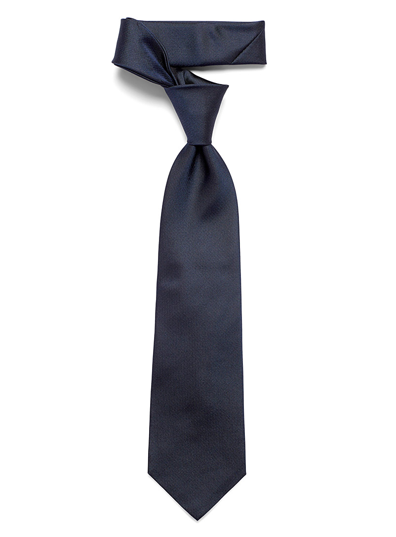 Blick Marine Blue Solid oxford tie for men